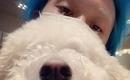 DAWN、愛犬とお揃いの白い眉毛を公開…超接近ショットでキュートな魅力をアピール